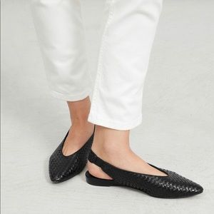 Everlane woven leather slingback shoes